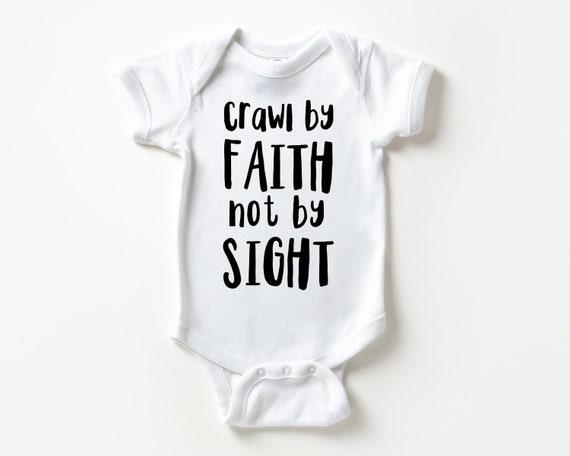 Crawl by Faith Funny Christian Baby clothes, Christian Baby Shower Gift, Baby  , Christian  Gift