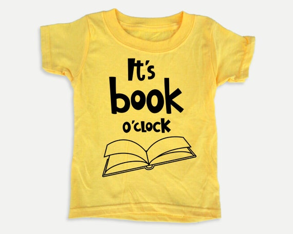 It's Book O'clock Toddler Tee, Funny Reading Books t-shirt for Toddlers, Gift for book lover kid