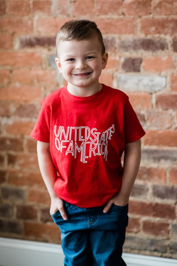 United States Toddler Tee, Patriotic Toddler Tee, Fourth of July tee, Gender Neutral kid clothes