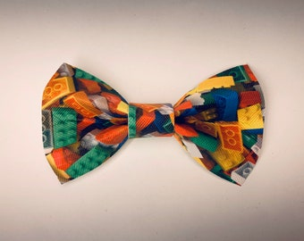 New Dark Yellow With Holiday String Lights Clip-On Cotton Bow Tie