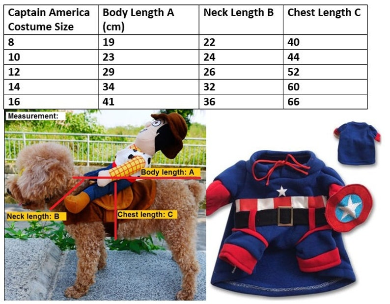 Cute Pikachu Pokemon Captain America Superman Mickey Costume for Pet Dog and Cat