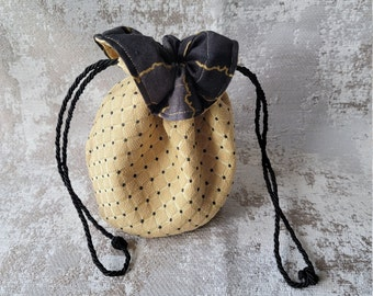 Renaissance Lightning Dice Bag   Drawstring Bag   Drawstring RPG Sack   Clothing Pouch   Trinket Bag