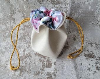 Floral Secrets Dice Bag   Drawstring Bag   Drawstring RPG Sack   Clothing Pouch   Trinket Bag