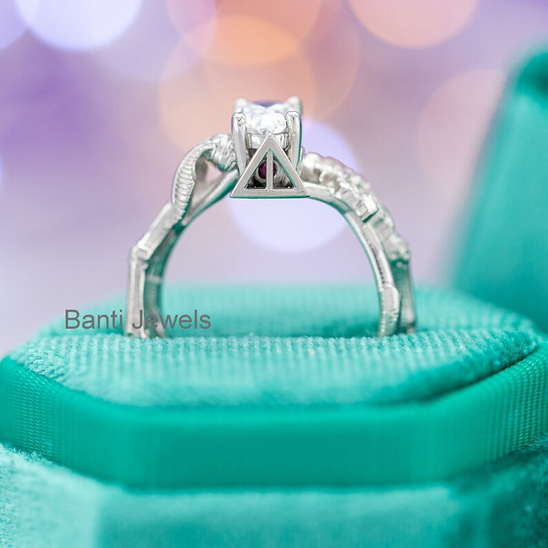 2.25 CT Cluster engagement ring for women Oval cut Moissanite engagement ring vintage unique diamond Bridal Anniversary gift Sterling Silver