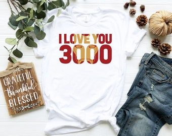 dc266cd6 Marvel Avengers Endgame Iron Man I Love You 3000 Red Logo Shirt - Tony Iron  Shirt - Endgame 2019 Tank Top - Father's Day Gift Ideas
