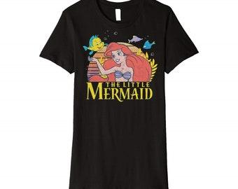 188652277 Disney Little Mermaid Ariel Flounder Logo Graphic tshirt, Disneyland Tee,  Men's/Women's/Youth Disney 2019 Shirt,Tank Top, Hoodie, Sweatshirt