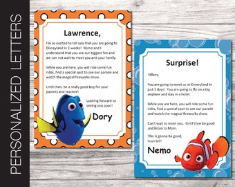 Printable MINION Personalized Letters Announcing Surprise PDF all editable text. Universal Studios or Nickelodeon Trip