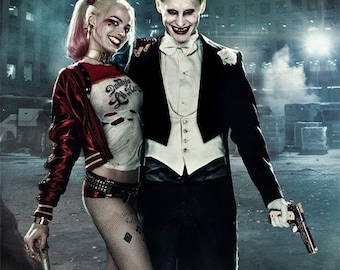 60fd499b6a47 Movie Suicide Squad X Art Decor THE JOKER Harley Quinn Poster 18x12