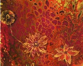 Connection-Original Floral Flow Art Acrylic on Canvas