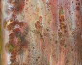 Desert Bloom Floral Abstract Art  Original Acrylic on Canvas
