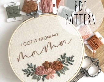 Thankful Digital Download Embroidery Hoop Art PDF Pattern with Instructions