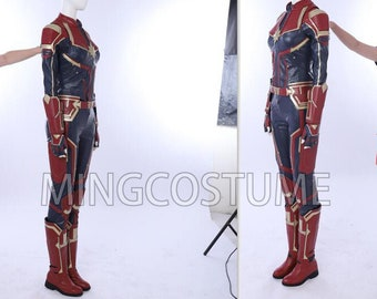 Captain Marvel Costume Etsy The outfit that brie larson wears in captain marvel for her role as a starforce team member is a custom made costume for the movie. captain marvel costume etsy