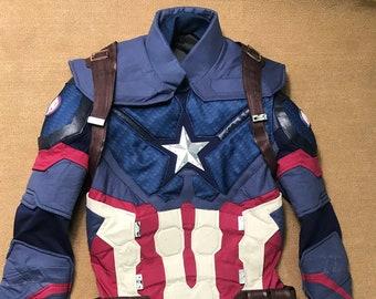 046f65e8f7a1 Avengers 4 Endgame Cosplay Costume Captain America Costume