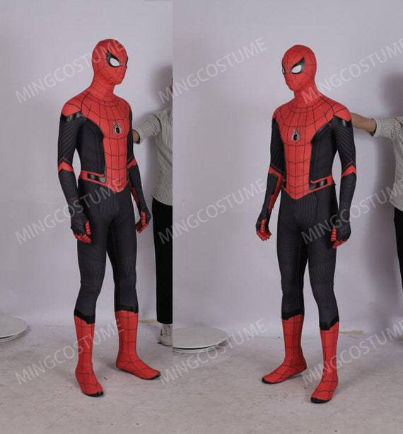 Spider Man Far From Home Cosplay Costume Spiderman Suit Etsy