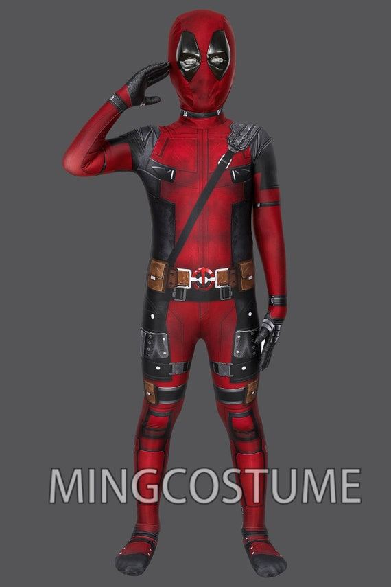 Deadpool Cosplay Traje Niños Traje Deadpool Jumpsuit Para Etsy