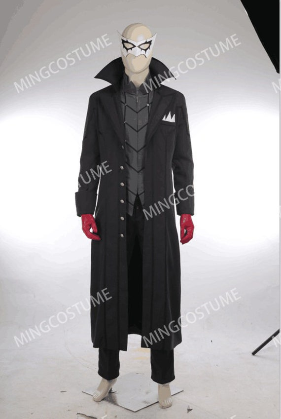 Persona 5 Joker Kaitou Cosplay Costume Full Set Custom Made Halloween Game Cos
