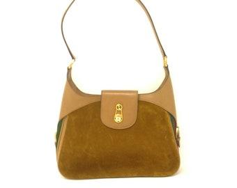 d94ebdbd3be Rare Vintage 60s Gucci Tan Suede   Web Bag