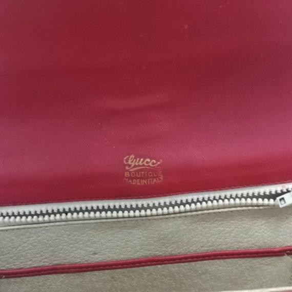Rare Vintage 1970s Gucci Orange Suede Chain Bag - image 4