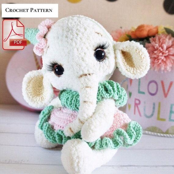 Amigurumi baby elephant   Lucy the Elephant pattern   lilleliis   570x570