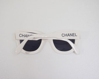 711a0bc20 Vintage 90s Chanel Logo Letters Sunglasses