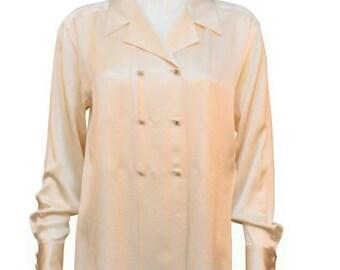 e3b6c56fa580b Vintage Chanel Silk Shirt