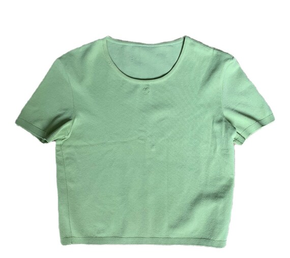 Vintage Chanel Lime Green Knit Top