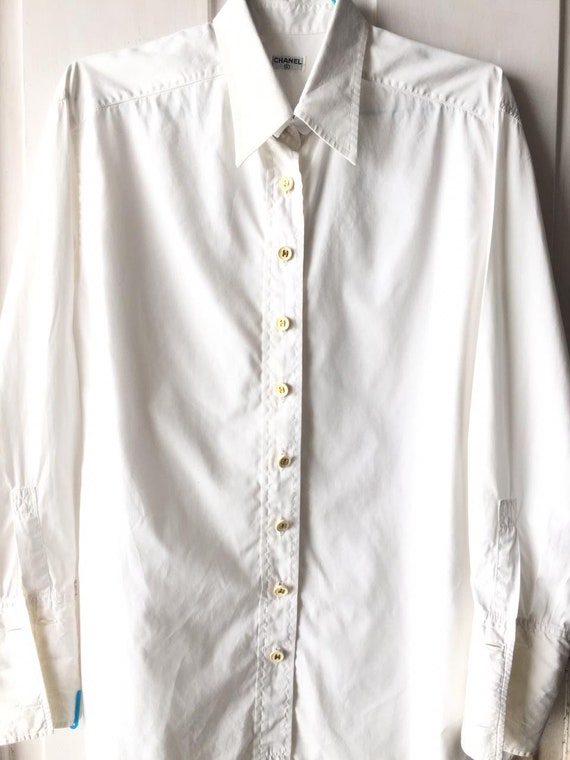 Vintage Chanel Logo Buttons Shirt