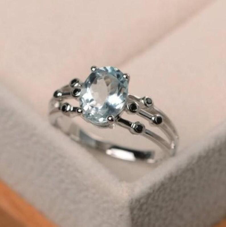 Gemstone ring, Wedding Gift Ring 925 Silver Multi Color Ruby Amethyst Black Onyx Gemstone Birthstone Jewelry Ring Silver ring