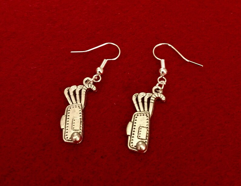 Rugby Sporty theme earrings choose from Football Golf all on silver plated earring hooks ideal gift! Tennis racquet Cricket Cycling