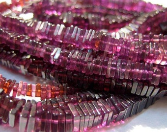 4MM SANGRIA RED GARNET GEMSTONE FACETED SQUARE CUBE LOOSE BEADS 20 BEADS