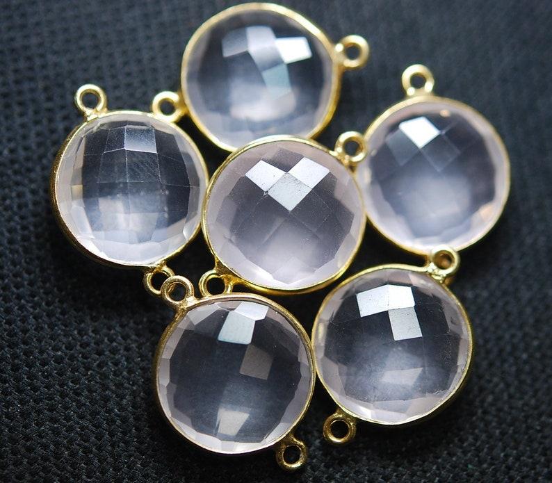 2 long chs4643 Silver Bail 1 White SELENITE Gemstone Stick Charm Pendant