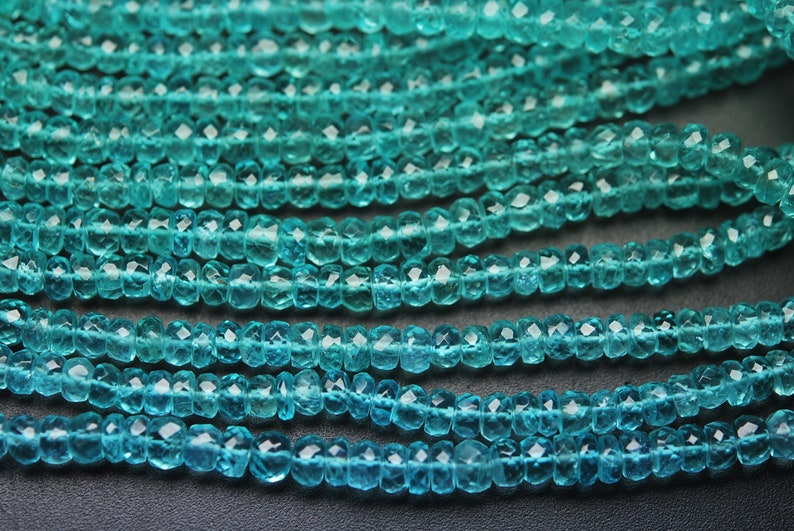 18 Inches Super Finest Quality,Sky Green Blue Apatite Size5-5.5mm