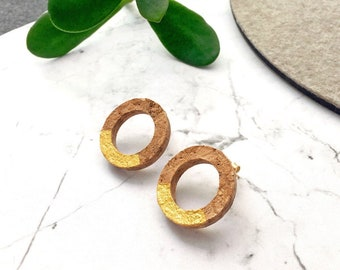 Cork earrings CIRCULO by SUROH.