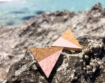 Cork Earrings PIRAMIDE by Suroh.