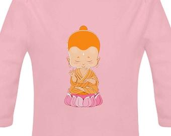 b680a736 LITTLE BUDDHA Organic Cotton Powder Pink Baby Grow / Bodysuit Unisex