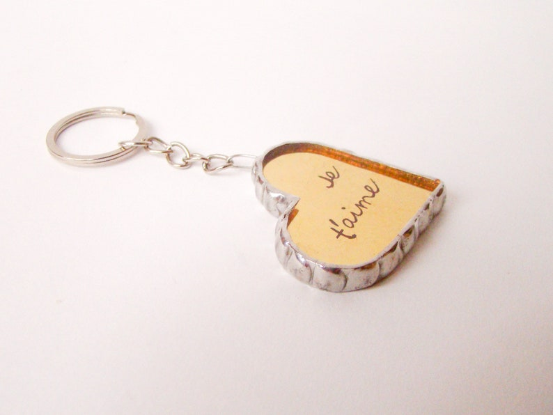 Personalized Key Fob with Heart Gift for Her Love Key chain Key ring Gift Custom Glass Keychain with an Inscription Valentine/'s Day Gift
