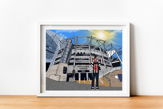 Newcastle Personalised Any Name Number Framed Poster Football Gift