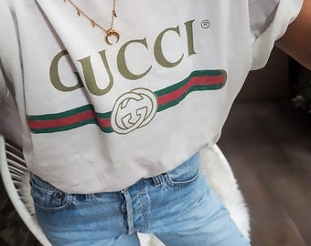 a1c37b72f Gucci T-shirt Identical Gucci unisex tshirt Gucci vintage t-shirt high  quality tshirt for men women kids gucci vintage logo design inspired