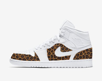 reputable site f547e a8a0e NIKE JORDAN Leopard Customized With Swarovski Crystals, Bling Nike Shoes