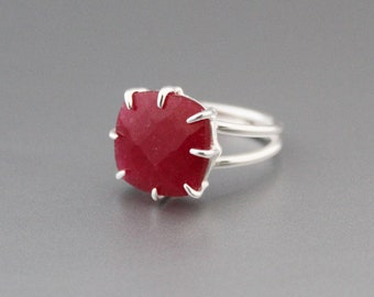 Stamped 925 Solid  Silver Natural GARNET Red Color Beautiful Hot Selling Stud Earrings 0.4 Indian Jewelry STORE World Class Gift For Wife