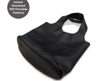 PDF patterns for small leather tote bag | Instant download PDF | With instructions
