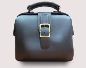 Leather doctor bag for men PDF patterns / leather patterns / DIY leather bag patterns (Frame size 19cm)