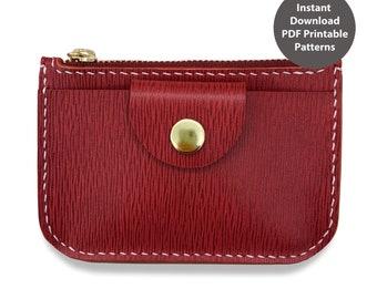 Leather key chain bag / coin bag PDF patterns / leather patterns / DIY leather bag patterns