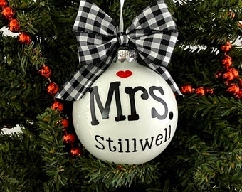 Mrs. Personalized Ornament - Wedding gift - Personalized Wedding Ornament - Engagement Gift - Gift - Best Seller