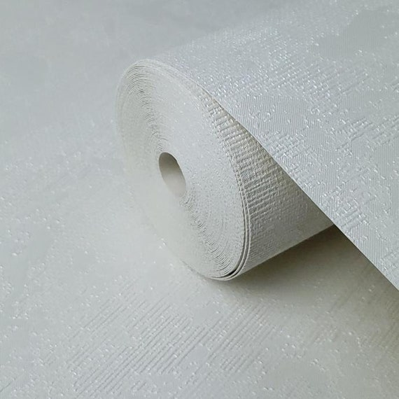 Wallpaper white Textured Plain Modern faux rusted sackcloth wall coverings rolls
