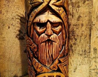 Odin, woodcarved statue, Norse Pantheon, Allfather, Wotan, Nordic Old God, Idols of God, Scandinavian gods, Asatru
