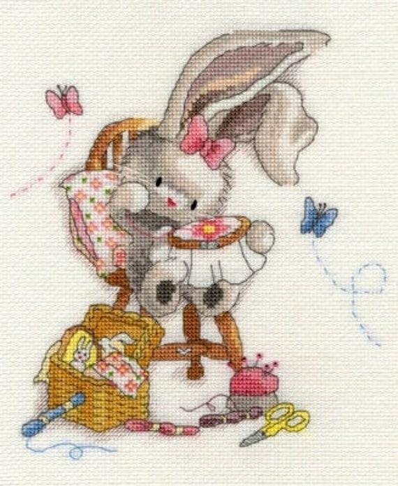Bothy Threads Xmas Hare Cross Stitch Christmas Card Kit