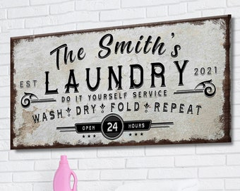 Laundry Sign Personalized Laundry Room Decor Rustic Laundry Room Decor Custom Laundry Sign  Vintage Laundry Sign Laundry Room Sign