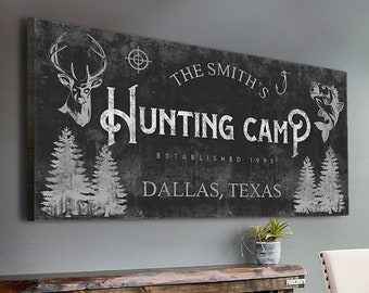 Hunting And Fishing Sign Hunting Home Wall Decor Deer Antler Wall Sign Family Name Sign Hunting Fish Gift Sign Established Hunting Wall Sign