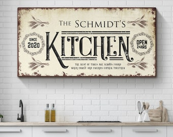 Farmhouse Kitchen Wall Art Kitchen Sign, Kitchen Decor, Custom Sign, Personalized Kitchen Sign, Kitchen Wall Decor, Moms Kitchen